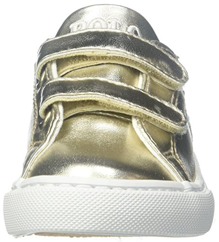Polo Ralph Lauren Slater Ez C Gold Synthetic Junior Trainers Gold