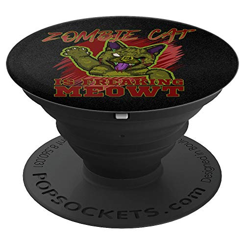 Zombie Cat Is Freaking MEOWT Halloween Costume Punny Grip - PopSockets Grip and Stand for Phones and Tablets