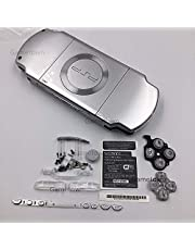 New Replacement Sony PSP 2000 Console Full Housing Shell Cover with Button Set -Silver.