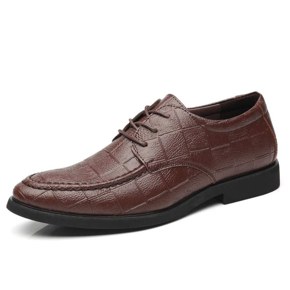 Jusheng Calzado Formal de Oxford con Cordones Superfibra con con con  Estampado en la Parte Baja de los Hombres (Color   Marr oacute n 2f20a580159a4