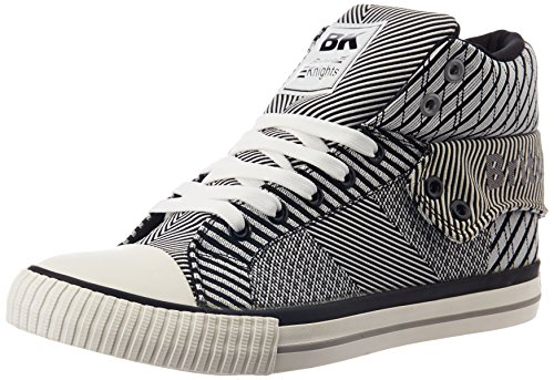 British Knights Women's Roco White and Black Sneakers