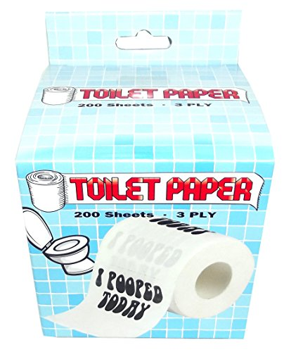 Novelty Toilet Paper (Island Dogs I Pooped Today Novelty Toilet Paper)