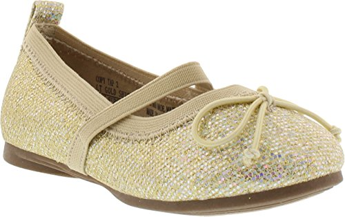Kenneth Cole Reaction Girl's Copy Tap 2 Light Gold Shimmer 7T - Cole Bow