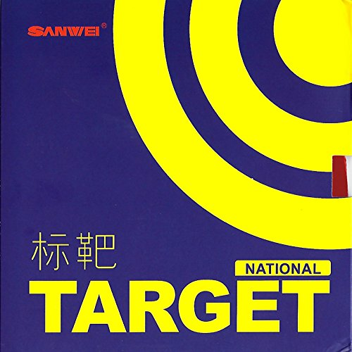 (Sanwei Target National Table Tennis Rubber (Blue Sponge) , Red , Max Sponge Thickness)