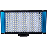 Dracast Complex High Color Camera LED Light with Battery Charger Combo, Blue (DR-CAML-ProB Combo)