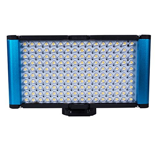 Dracast Complex High Color Camera LED Light with Battery Charger Combo, Blue (DR-CAML-ProB Combo) by Dracast