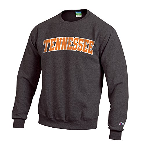 (Champion NCAA Tennessee Volunteers Men's Eco Powerblend Crew Neck Sweat Shirt, Small, Granite Heather)