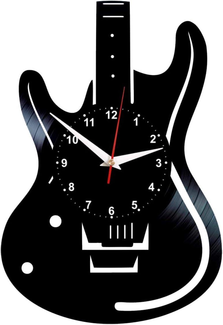EVEVO Guitarra Reloj De Pared Vintage Accesorios De Decoración del ...