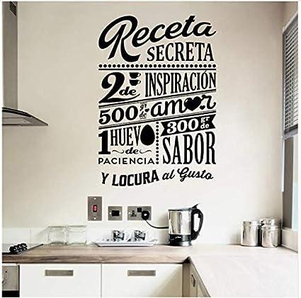 Sticker Design Receta Secreta Decorazione della parete ...