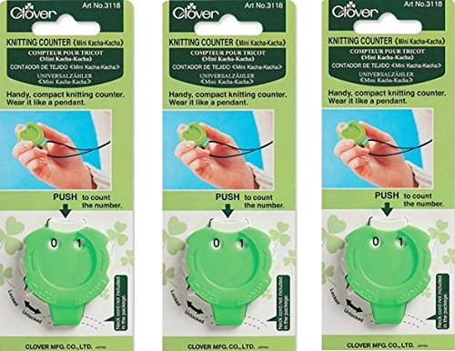 Clover Knitting Stitch Counter Mini Kacha-Kacha (3 Pack)