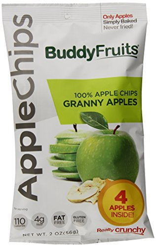 Buddy Fruits 100 % Apple Chips Granny Apples, 2.0 Ounce (Pack of 12)