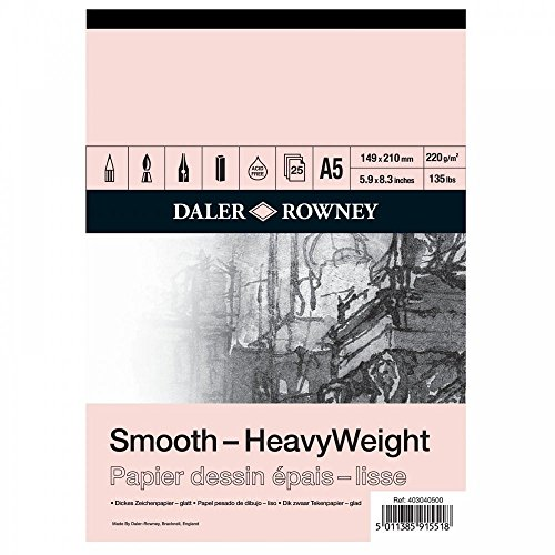 Daler Rowney Heavyweight Cartridge Pad 220gm A5 25 sheets