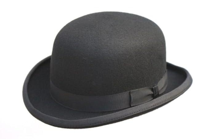 100% lana negro Fashion forro interior de satén de un sombrero Gorro de 4 tamaños