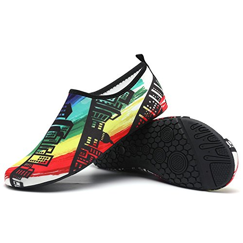 Shoes Clearance Sale ,Farjing Womens Mens Water Shoes Barefoot Quick-Dry Aqua Socks Beach Swim Surf Exercise Shoes(US:6-6.5,Multicolor1)