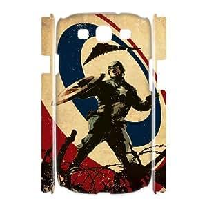 3D Stevebrown5v Captain America Illustration Samsung Galaxy S3 Case, [White]