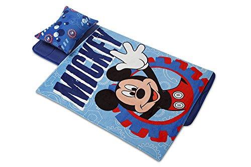 Mouse Cot - AQUATOPIA Deluxe Memory Foam Nap Mat Set, Mickey Mouse/Blue