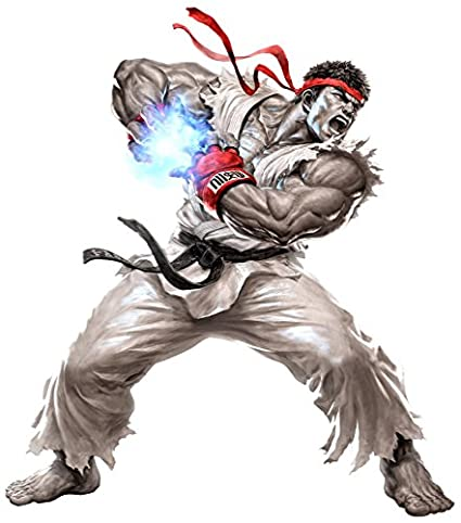 Street Fighter Ryu Augmented Reality Wall Decal Peel Stick Removable Vinyl