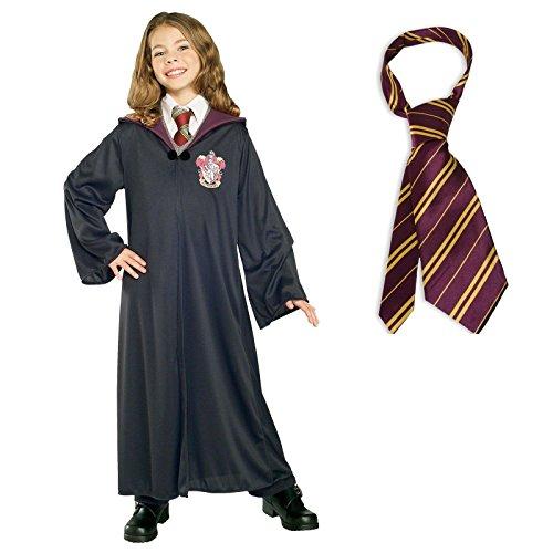 Harry Potter Gryffindor Robe Costume Bundle Set Large