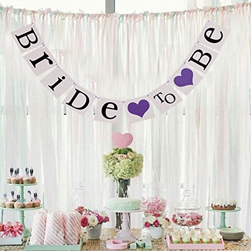 Bride to Be Wedding Banner Bunting Bride Garland Hen Party Bachelorette Party Decoration , Purple