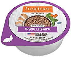 Unlock your cat's potential to thrive - Instinct Minced Cups grain free wet cat food are made with real meat plus whole food ingredients. Instinct Original minced cat food cups is a high protein cat food in a savory gravy. Made without grain,...
