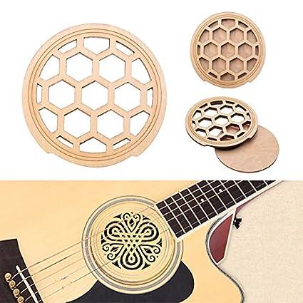 Taihang Guitarra eléctrica acústica Feedback Buster Hollow Wood Sound Buffer Hole Protector