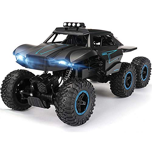 Luccky 6WD 6-Wheel 6 Drive Front Bright Lighting Headlights Toy Car Charger Rechargeable Battery Cross Country Car Children's Wireless Remote Control Toy Off-Road Plaything Kid SUV Bauble with Light