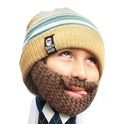 Beard Head Kid Roro Beard Beanie - Knit Hat w/Fake Beard for Kids and Toddlers