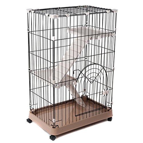 Favorite-3-Tier-Standard-Cat-Metal-Crate-Cage-Single-Door-29-by-19-by-43