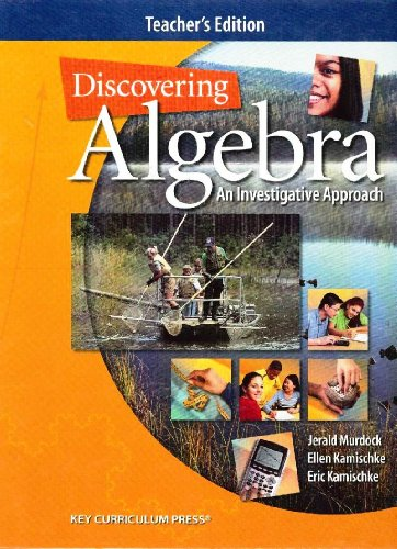 Discovering Algebra: An Investigative Approach, Teacher's Edition
