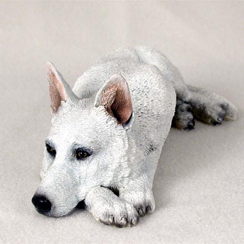 German Shepherd Figurine - MyDog (White)