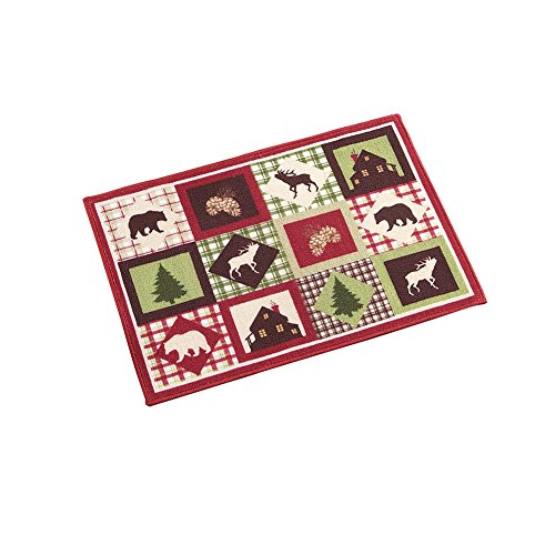 "Collections Etc Midnight Cabin Woodland Area Accent Rug, 20"" X 30"""
