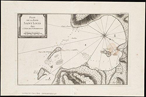 Home Comforts LAMINATED POSTER Map of Plan de la Baye Saint Louis dans lisle de St. Domingue (2674647843) POSTER PRINT 24 X 36