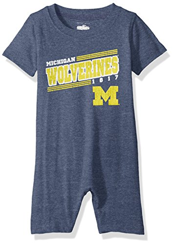 Boys And Willy Pants Wes (Cotton Willy NCAA Michigan Wolverines Children Boys Infant Short Sleeve Romper,6M,Midnight Blend)
