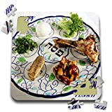 Florene Jewish Theme - Pesach Plate With Passover Foods - 10x10 Inch Puzzle (pzl_37364_2)