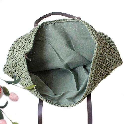 Summer Shoulder Hot Beach Straw Armygreen Sale Crochet Tote Women's Handbag Bags Chikencall Bag IwzO0qW1Bn