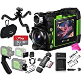 Olympus TG-Tracker 4K Video Stylus Action Camera (Green) BUNDLE: TG Tracker Camera + Case + Flexible Tripod + 32GB Memory + Travel Charger + Replacement Battery + DigitalUniverse PRO Accessory Bundle