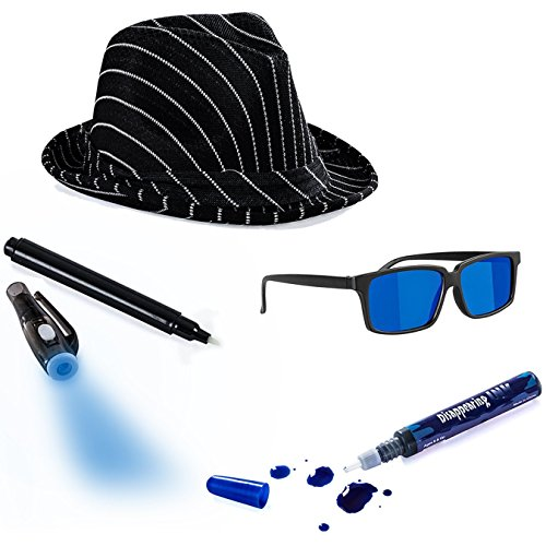 Tigerdoe Detective Costume - Spy Gear for Kids - Dress up - Spy Costume Accessories (4 Pc) -