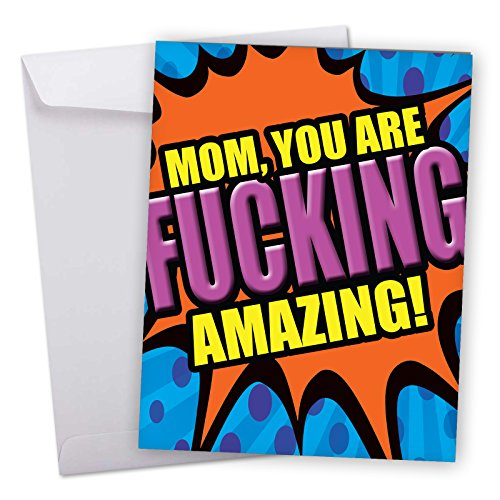 J2084MDG Jumbo Funny Mother's Day Card: Amazing Mom With Envelope (Extra Large Version: 8.5'' x - Free Shipping Mothers Day Cards