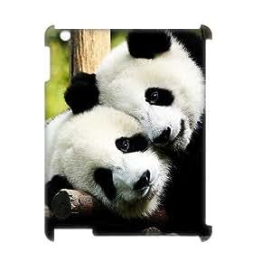 LZHCASE Diy Cover Custom Case Panda For IPad 2,3,4 [Pattern-1]