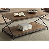 ACME Furniture 80445 Fabio Coffee Table, Oak & Antique Black