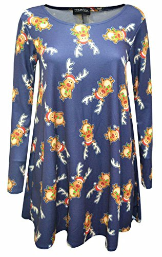 Other - Robe - Manches Longues - Femme Multicolore BLUE RAINDEER XXXL