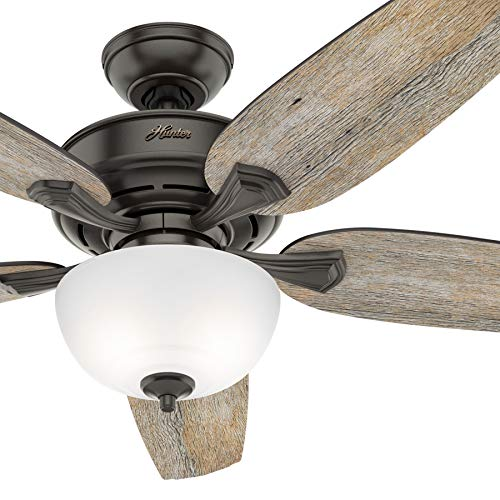 Hunter Fan 54 inch Casual Noble Bronze Indoor Ceiling Fan with Light Kit Renewed Noble Bronze