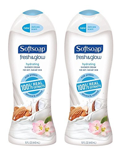 Softsoap Fresh & Glow Almond & Coconut Body Wash 15 oz ( Pack of 2) - Wash Softsoap Body Hydrating