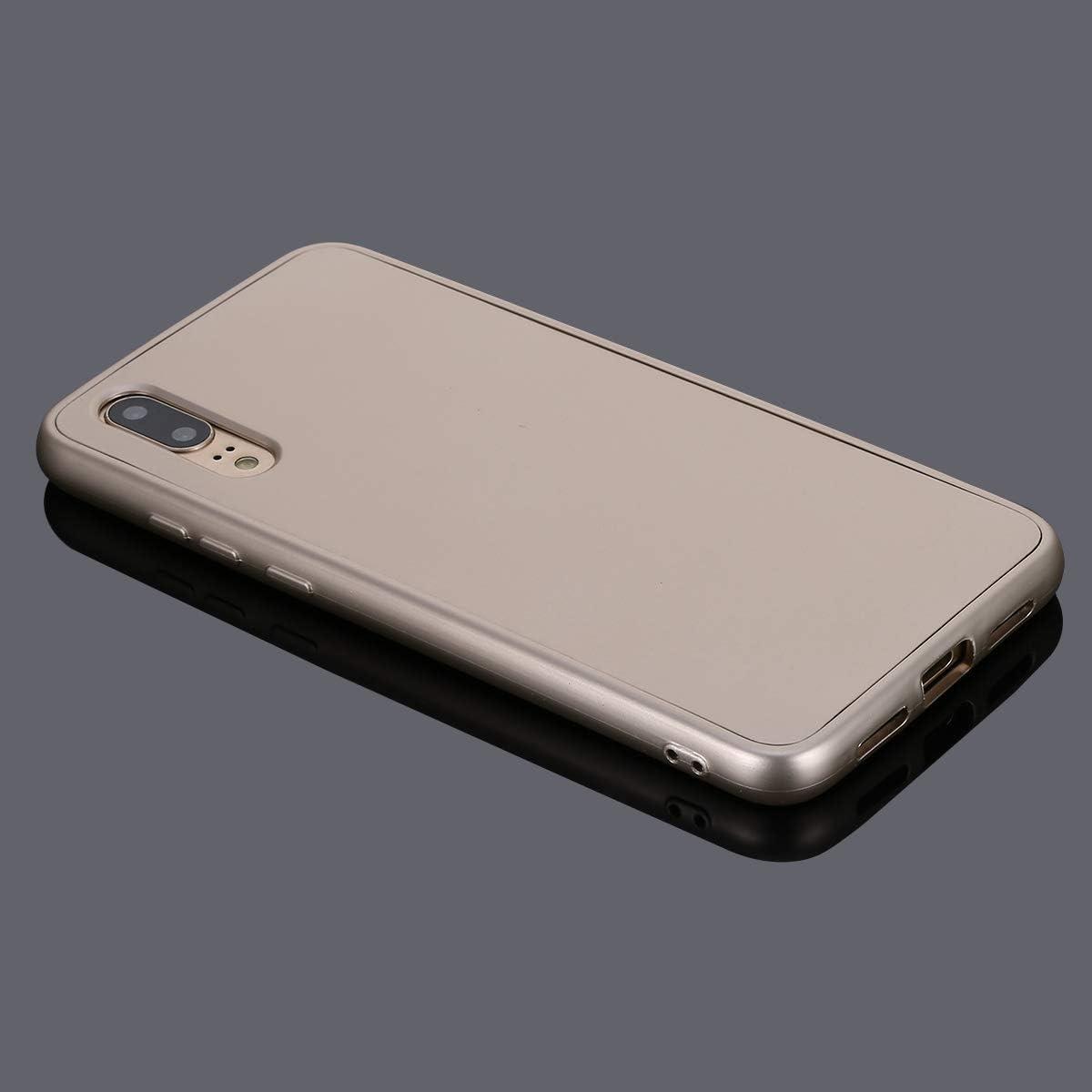 Herbests Coque Huawei P20 Protection Int/égrale en Silicone 360 Double Faces Corps Entier 360 Degr/és /étui de Protection en Silicone Avant et arri/ère Full Body Protection