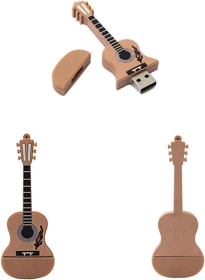 CEspace 16GB USB Flash Drive 2.0 Metal Guitar Shape Anti-Skid Flash Drive Memory Stick Thumb Drives
