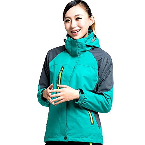LANBAOSI Women's Hooded Waterproof Fleece Ski Jackets Outdoor Mountain Jacket