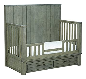 Bassett Baby Kids Everest 4-in-1 Crib, Smokey Grey