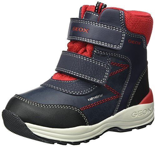 Geox New Gulp BOY ABX 1 Ankle Boot, Navy/red, 26 M EU Toddler (9 US) (Geox Boots For Boys)