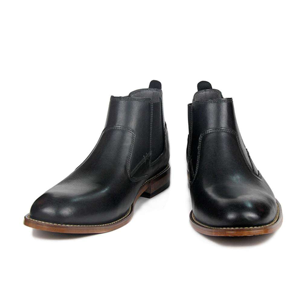 Amazon.com   Todaysunny Chelsea Boots Men Leather Ankle Slip-on Boot Black Brown Formal Dress Casual Moccasins Shoes   Chelsea