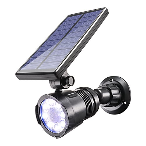 Lights Outdoor,Sunix 8 Bright LED Solar Garden Spotlight Solar Spotlights Garden Solar Security Light, Waterproof Solar Lights for Deck,Yard, Pathway,Porch Patio,etc ()